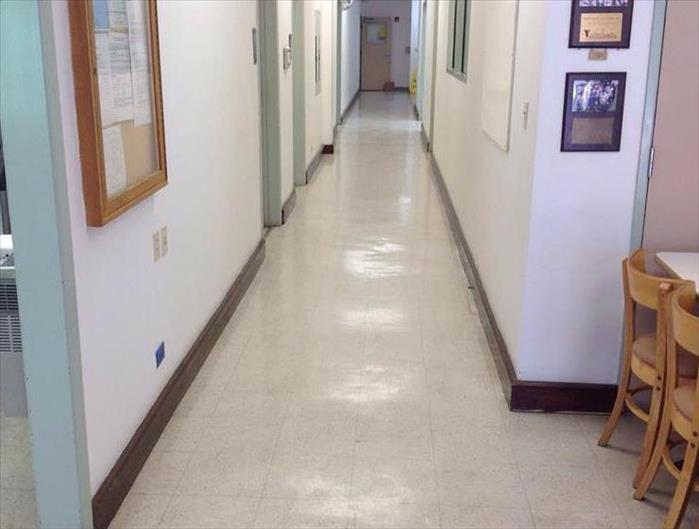 Flooded School Hallway in Comfort, TX After