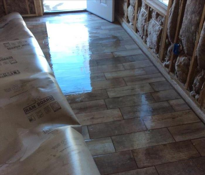 wet hardwood flooring