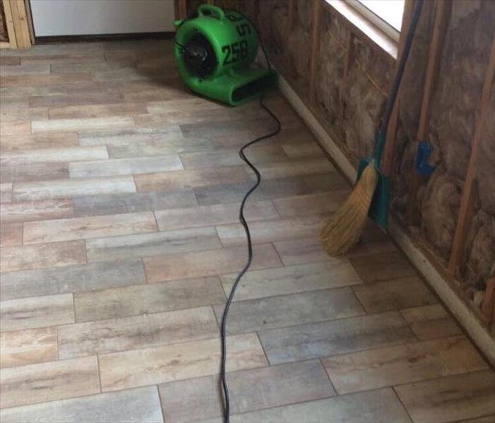 dried hardwood flooring with industrial drying equipment